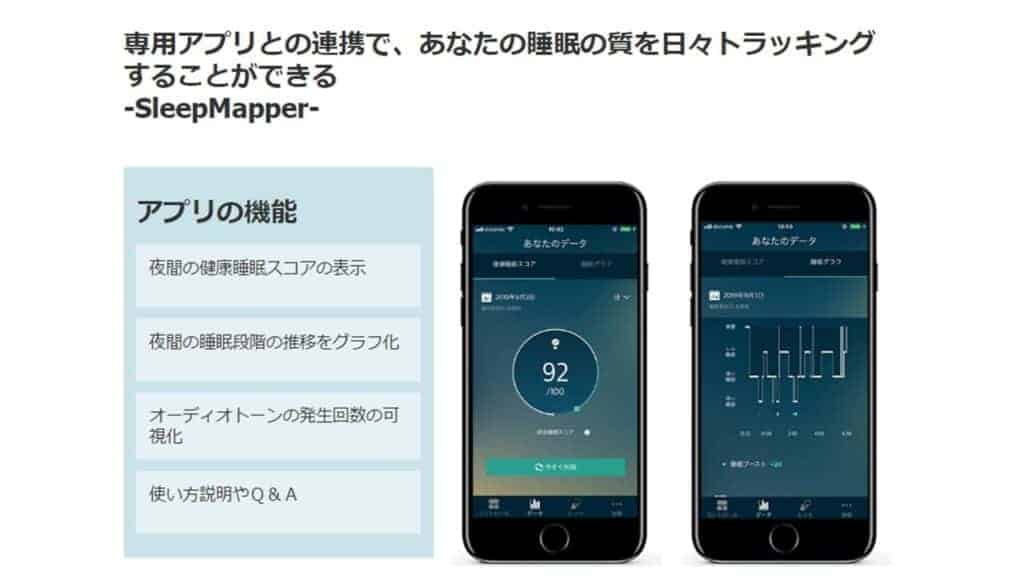 スマホアプリで睡眠スコアを確認