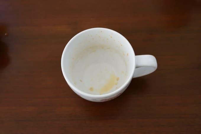 朝の時間がないときは、直接コップに粉を入れて混ぜるだけ