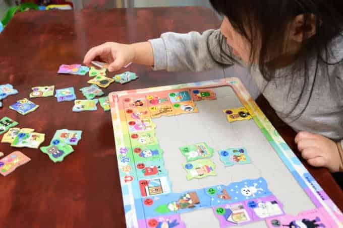 アンパンマンひらがなパズルの教え方