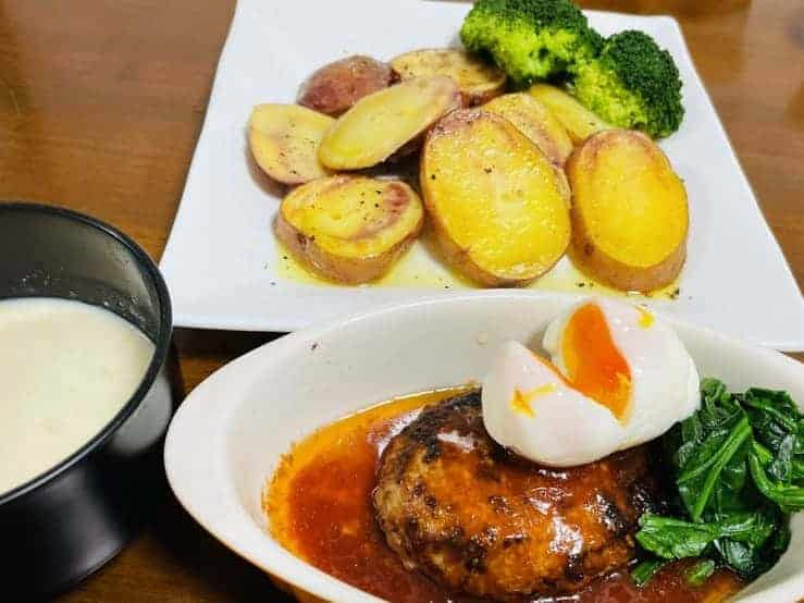 ココノミで届いたジャガイモとアンデスレッドで作った料理