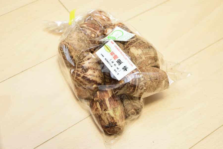 ココノミで届いた里芋(高知県産)