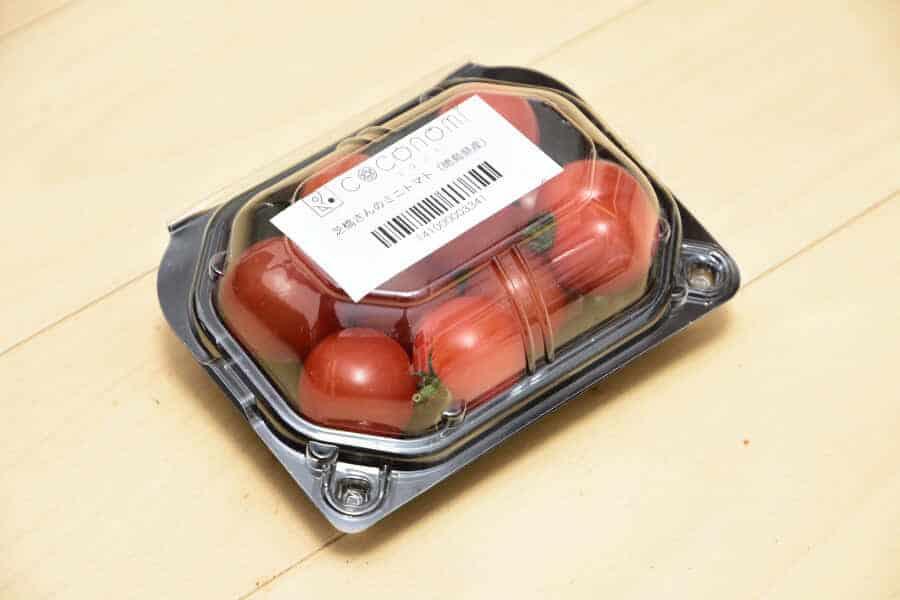 ココノミで届いたミニトマト(徳島県産)